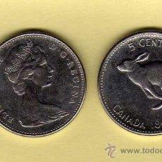 Monedas antiguas de América: MONEDA NIQUEL CANADÁ AÑO 1967 5 CENTS MBC. Lote 24406328