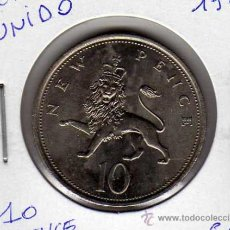 Monedas antiguas de América: MONEDA 10 PENCE NEW REINO UNIDO AÑO 1968 SC. Lote 24767505