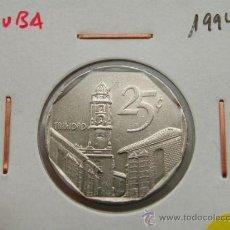 Monedas antiguas de América: CUBA 25 CENTAVOS 1994. Lote 25369598