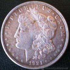 Monedas antiguas de América: ESTADOS UNIDOS 1 DOLAR 1921 TIPO MORGAN PLATA VER FOTOS. Lote 25846900