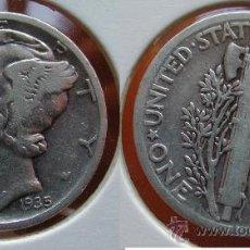 Monedas antiguas de América: ESTADOS UNIDOS - USA - 1 DIME (10 CENTAVOS) 1935 - PLATA. Lote 25998613
