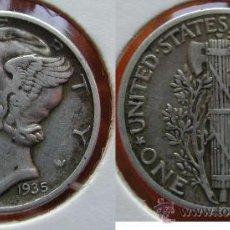 Monedas antiguas de América: ESTADOS UNIDOS - USA - 1 DIME (10 CENTAVOS) 1935 - PLATA. Lote 25998619
