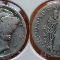 Monedas antiguas de América: ESTADOS UNIDOS - USA - 1 DIME (10 CENTAVOS) 1939 - PLATA. Lote 120767247