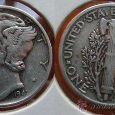 Monedas antiguas de América: ESTADOS UNIDOS - USA - 1 DIME (10 CENTAVOS) 1941 - PLATA. Lote 120767255