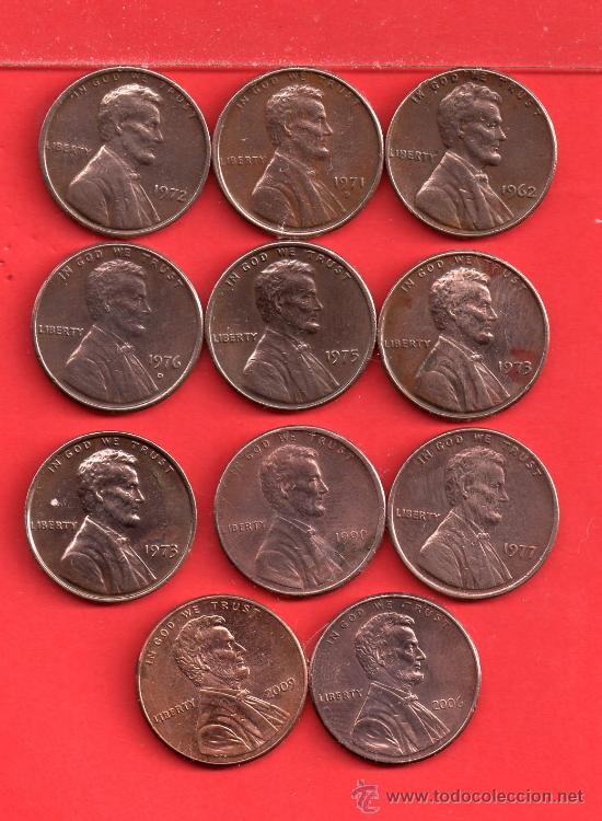 ONCE MONEDAS DE USA AÑOS DIFERENTE BIEN CONSERVADAS (Numismática - Extranjeras - América)