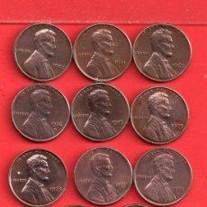 Monedas antiguas de América: ONCE MONEDAS DE USA AÑOS DIFERENTE BIEN CONSERVADAS. Lote 27303978