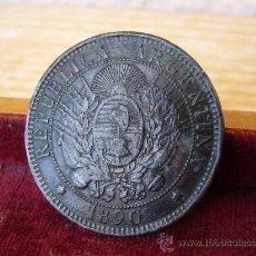 Monedas antiguas de América: ARGENTINA - 2 CENTAVOS 1890. Lote 27660029