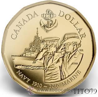 CANADA 1 DOLAR 2010 NAVY MARINES (1910-2010) (Numismática - Extranjeras - América)
