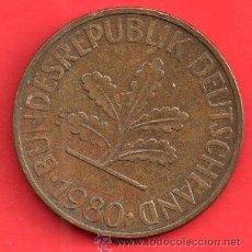 Monedas antiguas de América: MONEDA REPUBLICA DEUTSCHLAND 10 PENNIC DEL 1980. Lote 27880109