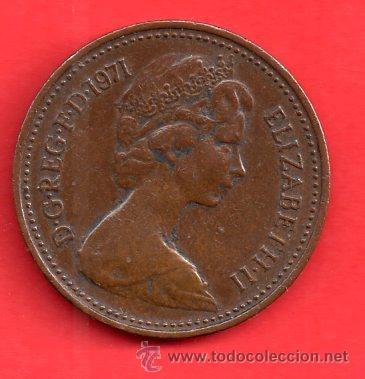 MONEDA REPUBLICA ELIZABETH - II NEW PENNY DEL AÑO 1971 (Numismática - Extranjeras - América)