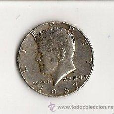 Monedas antiguas de América: 1/2 DOLLAR PLATA KENNEDY 1967. Lote 28482357