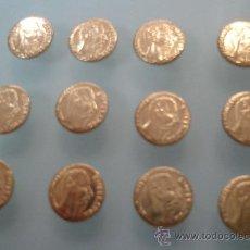 Monedas antiguas de América: LOTE DE 12 MONEDAS DE ORO 22K HGE - MAXIMILIANO - AÑO 1865. Lote 156851776