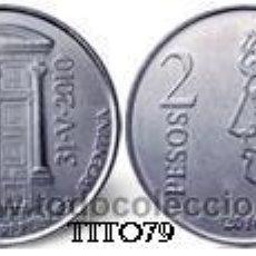Monedas antiguas de América: ARGENTINA 2 PESOS 2010 75º ANIV. BANCO CENTRAL. Lote 195260895