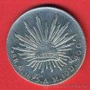 Monedas antiguas de América: MONEDA 8 REALES MEXICO MEJICO, 1895 , ZACATECAS , PLATA , EBC ,ORIGINAL , M862. Lote 29175799