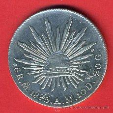 Monedas antiguas de América: MONEDA 8 REALES MEXICO MEJICO 1895 PLATA EBC ORIGINAL , M862. Lote 29175799