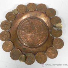 Monedas antiguas de América: ANTIGUO CENICERO REALIZADO CON 18 MONEDAS DE CENTAVOS DE LOS ESTADOS UNIDOS MEXICANOS, MIDE 17 CMS . Lote 29383926