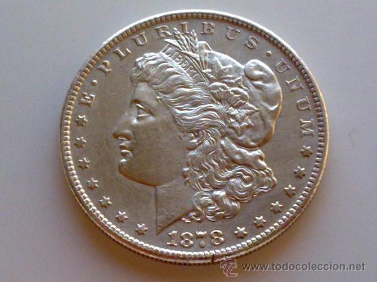 Moneda de plata de un dolar americano a o 1878 comprar monedas antiguas de m rica en - Cuberterias de plata precios ...