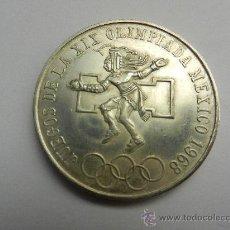 Monedas antiguas de América: 25 PESOS MEXICANOS 1968 - JUEGOS OLIMPICOS DE 1968 - PLATA LEY 720. Lote 29812013
