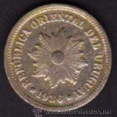 Monedas antiguas de América: 1 MONEDA - 2 CENTÉSIMOS - REPÚBLICA ORIENTAL DE URUGUAY - 1936 - ORLA DE PALMAS / SOL RADIANTE. Lote 29856614