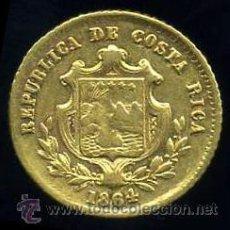 Monedas antiguas de América: 1/2 (MEDIO) ESCUDO DE ORO 1864 - COSTA RICA - RARA. Lote 31354502