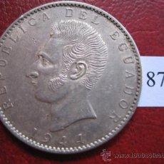 Monnaies anciennes d'Amérique: ECUADOR , 2 SUCRES DE PLATA 1944 , MEXICO , MEJICO . Lote 31593118