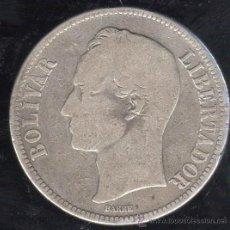 Monedas antiguas de América: MONEDA DE 1 BOLIVAR. 1911. VENEZUELA. PLATA. Lote 31663744
