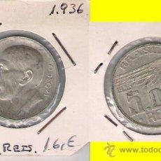 Monedas antiguas de América: MONEDA DE 5000 REIS DE BRASIL DE 1936 PLATA. MBC. ALBERTO SANTOS DUMONT INVENTOR E INGENIERO (ME122). Lote 32073236