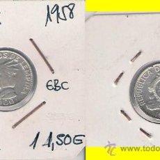 Monedas antiguas de América: ME270-HONDURAS. 20 CENTAVOS. 1958. PLATA. EBC.. Lote 32143438