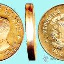 Monedas antiguas de América: REP. DOMINICANA.- 1976 PRUEBA EN BRONCE DORADO, 500 PESOS VIAJE DE LOS REYES DE ESPAÑA. 43,7 GR. . Lote 33214704
