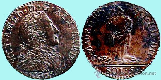 ISLA MAURICIO.-1796 VICTOR AMEDO 5 SOLES COBRE MUY BUENA CONSERVACION MBC+ (Numismática - Extranjeras - América)
