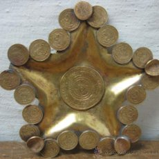 Monedas antiguas de América: ESPECTACULAR CENICERO ESTRELLA 16 CM - MEXICO - REALIZADO CON MONEDAS ANTIGUAS. Lote 33294458