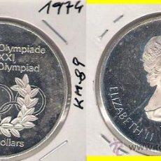Monedas antiguas de América: ME584-CANADÁ. 5 DÓLARES. 1974. PLATA. PROOF. (JUEGOS DE LA XXI OLIMPIADA, MONTREAL 1976).. Lote 33404847