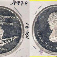 Monedas antiguas de América: ME586-CANADÁ. 5 DÓLARES. 1974. PLATA. PROOF. (JUEGOS DE LA XXI OLIMPIADA, MONTREAL 1976).. Lote 33405144