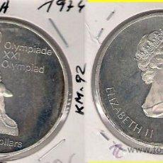 Monedas antiguas de América: ME587-CANADÁ. 5 DÓLARES. 1974. PLATA. PROOF. (JUEGOS DE LA XXI OLIMPIADA, MONTREAL 1976).. Lote 33405251