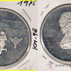 Monedas antiguas de América: ME588-CANADÁ. 5 DÓLARES. 1975. PLATA. PROOF. (JUEGOS DE LA XXI OLIMPIADA, MONTREAL 1976).. Lote 33405383