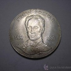Monedas antiguas de América: 100 BOLIVARES DE PLATA DE VENEZUELA . DE 1980 SIMÓN BOLIVAR. Lote 33559666