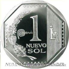 Monnaies anciennes d'Amérique: PERU 2012 1 NUEVO SOL MARCA PAIS PERU. Lote 142034604