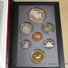 Monedas antiguas de América: ESTUCHE CANADA CALIDAD PROOF 7 MONEDAS 1992 INCLUYE DOLLAR DE PLATA. Lote 33819984