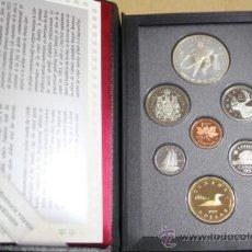 Monedas antiguas de América: ESTUCHE CANADA CALIDAD PROOF 7 MONEDAS 1993 INCLUYE DOLLAR DE PLATA. Lote 33820019