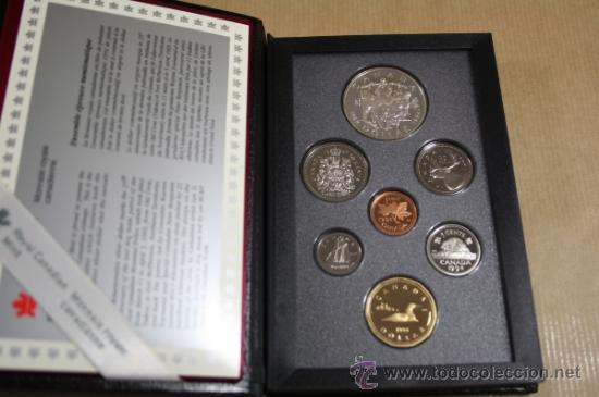 ESTUCHE CANADA CALIDAD PROOF 7 MONEDAS 1994 INCLUYE DOLLAR DE PLATA (Numismática - Extranjeras - América)