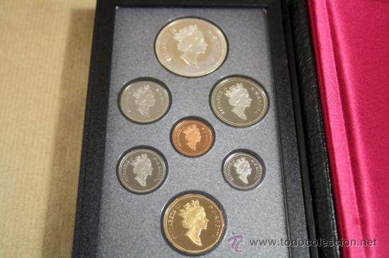 Monedas antiguas de América: Estuche Canada Calidad Proof 7 Monedas 1991 Incluye Dollar de Plata - Foto 2 - 33819906