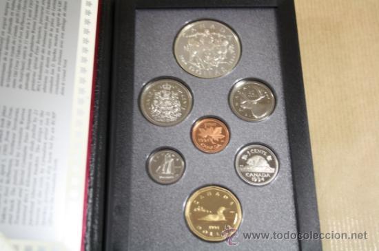 Monedas antiguas de América: Estuche Canada Calidad Proof 7 Monedas 1994 Incluye Dollar de Plata - Foto 3 - 33820053