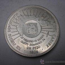 Monedas antiguas de América: 1 PESO DE PLATA DE 1974. REPUBLICA DOMINICANA .JUEGOS DEL CARIBE. Lote 33949497