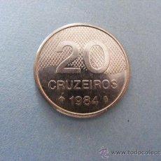Monedas antiguas de América: 1 ANTIGUA MONEDA AÑO 1984 - BRASIL - 20 CRUZEIROS. Lote 34223790