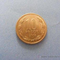 Monedas antiguas de América: 1 ANTIGUA MONEDA AÑO 2008 - CHILE - 10 PESOS. Lote 34233220