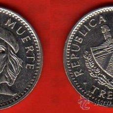 Monedas antiguas de América: CUBA 3 PESOS 1992 CHE GUEVARA. Lote 34414783