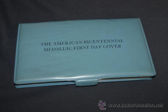 Monedas antiguas de América: Rara moneda en plata dorada de bicentenario de Estados Unidos. Certificada. 1976. - Foto 7 - 34675315