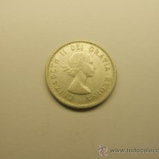 Monedas antiguas de América: MONEDA DE 25 CENTAVOS, AÑO 1964, CANADA. PLATA.. Lote 35425431