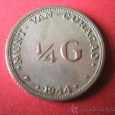 Monedas antiguas de América: MONEDA ANTILLAS HOLANDA-1/4 G-CURACAO-1944-PLATA-19 MM.D-.. Lote 35990980