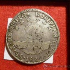 Monedas antiguas de América: BOLIVIA : 4 SOLES 1830 POTOSI JL BOLIVAR ( PLATA ). Lote 36067631